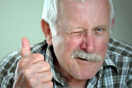 Mann mit Stolz im Gesicht - Physiognomik